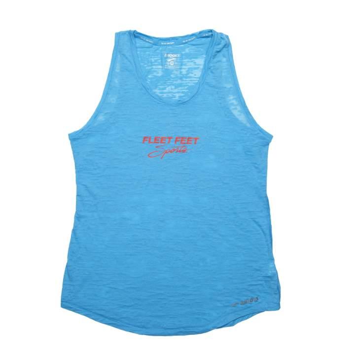 b438d31980baf Women s Blue Brooks Distance Heathered Tee (Fleet Feet Sports Exclusive)
