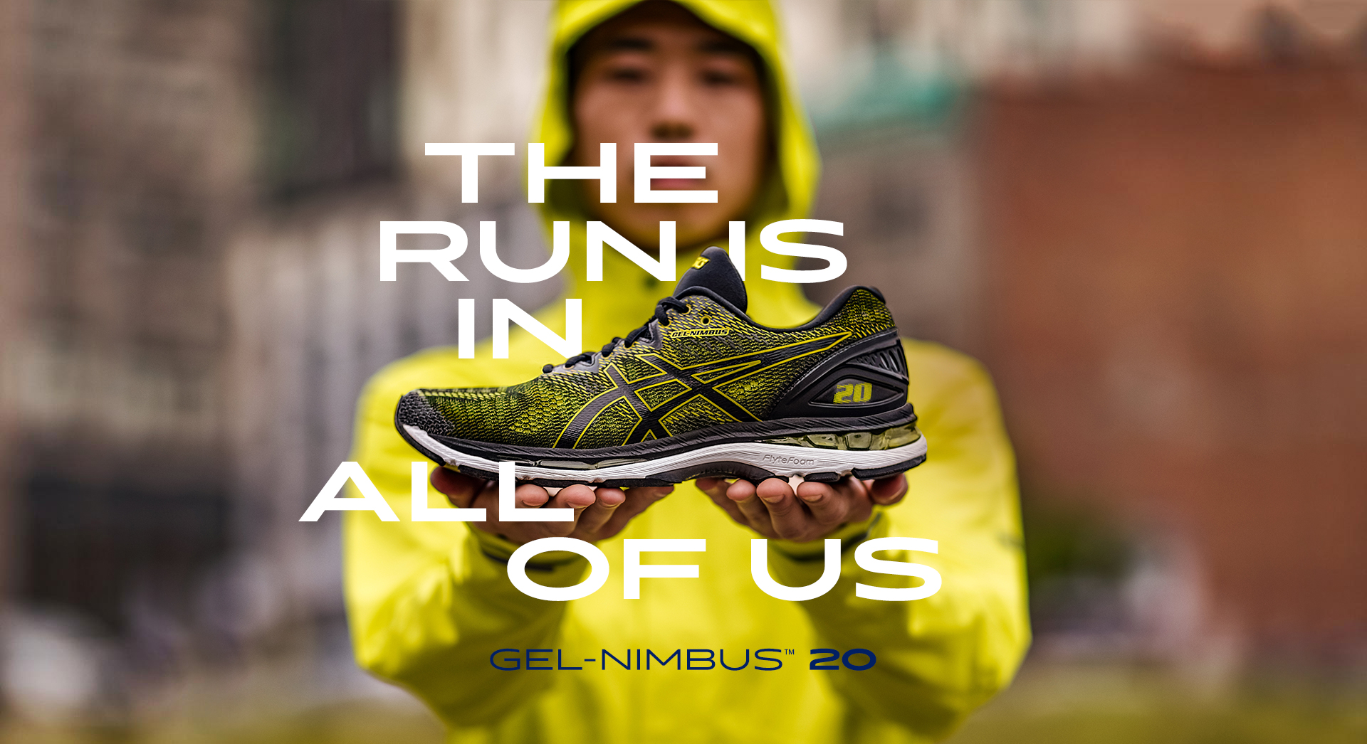 Running shoes asics nimbus