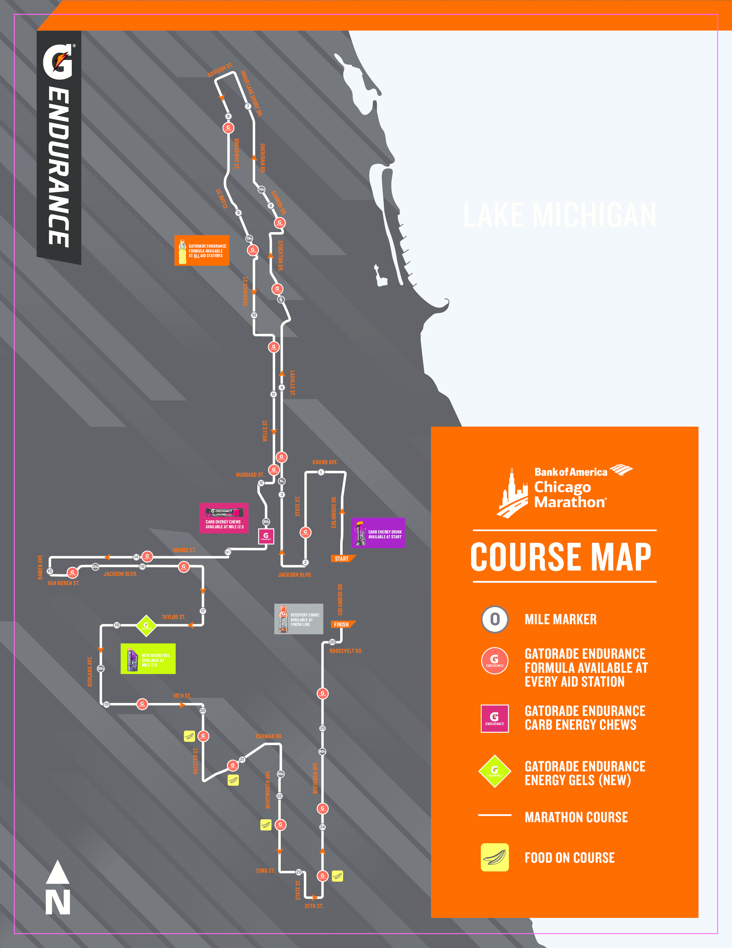 Here's a Nutrition Plan and Map of Where Gatorade Endurance Products on