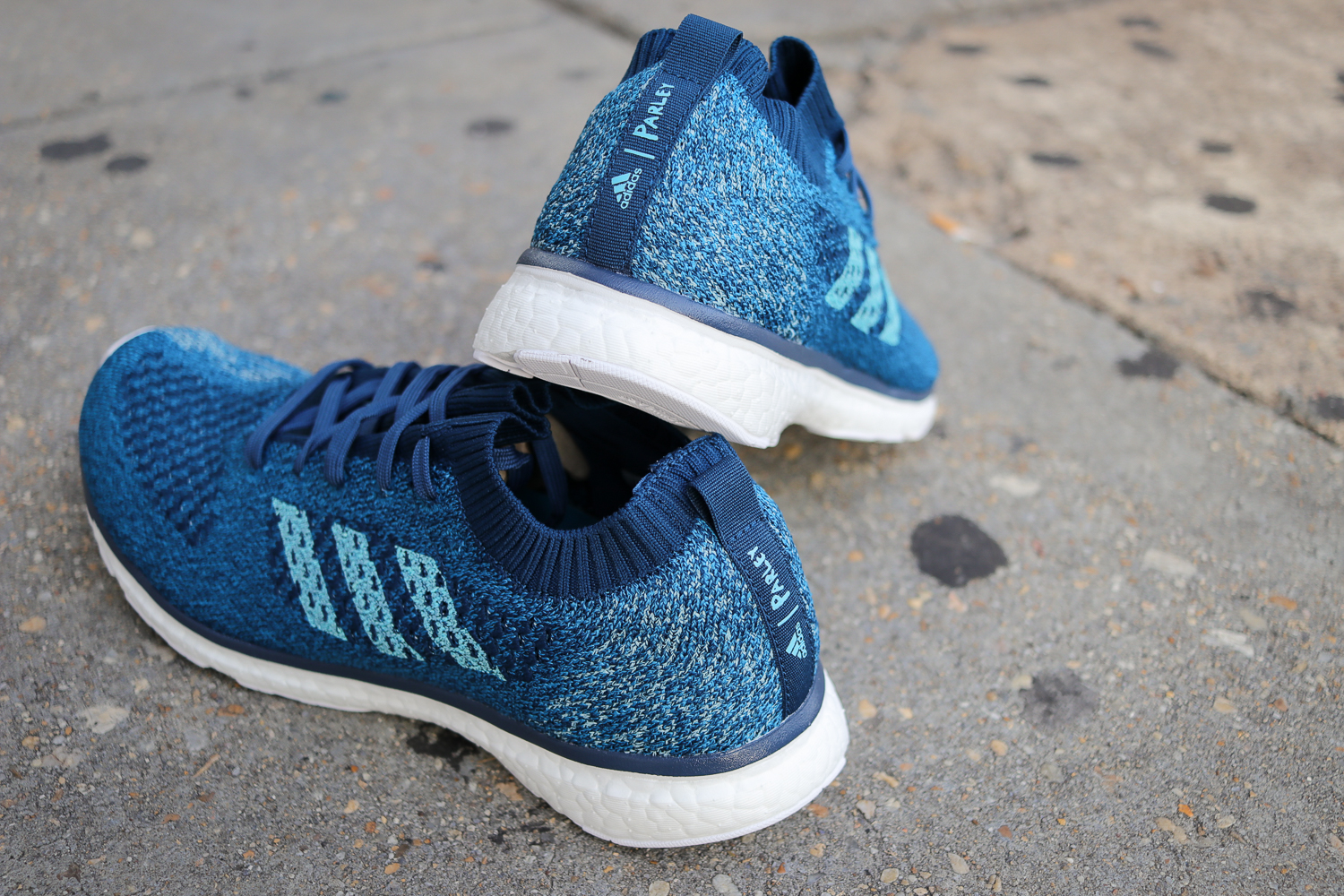 huge discount d9669 46847 Built with the same Parley Plastic infused Primeknit upper, the adizero  Prime Parley sits on the same midsole  outsole platform as the adios Boost  3, ...